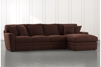 Prestige Foam Brown 2 Piece Sectional With Left Arm Facing Chaise