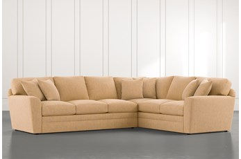 Prestige Foam Yellow 2 Piece Sectional With Left Arm Facing Sofa