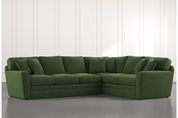 Prestige Foam Green 2 Piece Sectional With Left Arm Facing Sofa