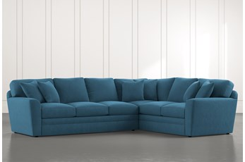 Prestige Foam Teal 2 Piece Sectional With Left Arm Facing Sofa