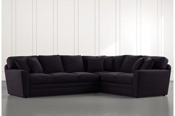 Prestige Foam Black 2 Piece Sectional With Left Arm Facing Sofa