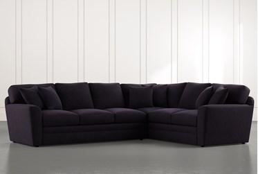 Prestige Foam Black 2 Piece Sectional With Left Arm Facing Sofa