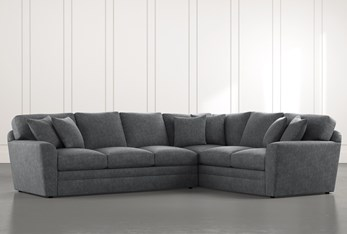 Prestige Foam Dark Grey 2 Piece Sectional With Left Arm Facing Sofa
