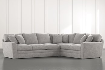 Prestige Foam Light Grey 2 Piece Sectional With Left Arm Facing Sofa