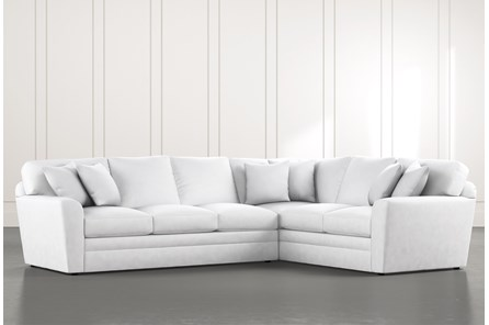 Prestige Foam White 2 Piece Sectional With Left Arm Facing Sofa