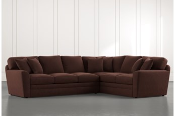 Prestige Foam Brown 2 Piece Sectional With Left Arm Facing Sofa