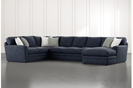 "Prestige Foam 3 Piece 159"" Sectional With Right Arm Facing Chaise"