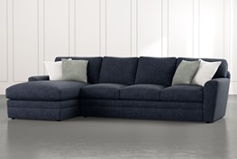 """Prestige Foam 2 Piece 126"""" Sectional With Left Arm Facing Chaise"""