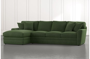 Prestige Foam Green 2 Piece Sectional With Right Arm Facing Chaise