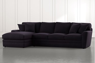 Prestige Foam Black 2 Piece Sectional With Right Arm Facing Chaise