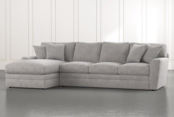 Prestige Foam Light Grey 2 Piece Sectional With Right Arm Facing Chaise