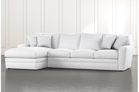 Prestige Foam White 2 Piece Sectional With Right Arm Facing Chaise