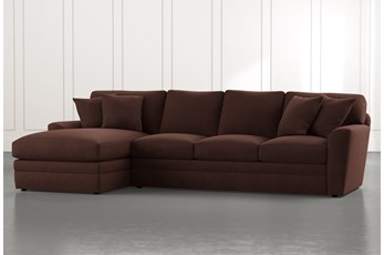 Prestige Foam Brown 2 Piece Sectional With Right Arm Facing Chaise