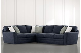 "Prestige Foam 2 Piece 129"" Sectional With Right Arm Facing Sofa"
