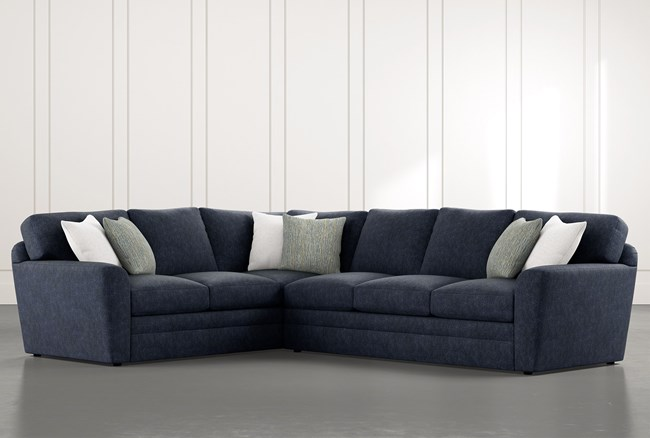"""Prestige Foam 2 Piece 129"""" Sectional With Right Arm Facing Sofa - 360"""