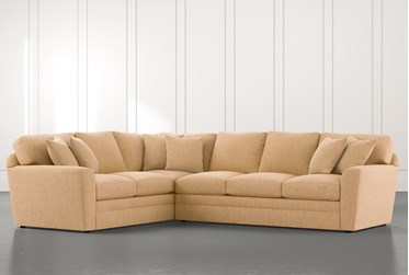 Prestige Foam Yellow 2 Piece Sectional With Right Arm Facing Sofa