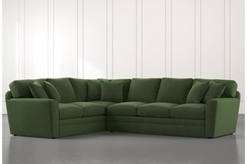 Prestige Foam Green 2 Piece Sectional With Right Arm Facing Sofa