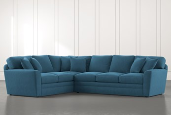 Prestige Foam Teal 2 Piece Sectional With Right Arm Facing Sofa