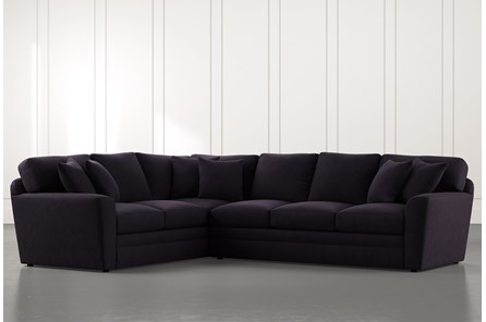 Prestige Foam Black 2 Piece Sectional With Right Arm Facing Sofa