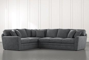 Prestige Foam Dark Grey 2 Piece Sectional With Right Arm Facing Sofa