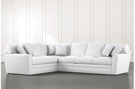 Prestige Foam White 2 Piece Sectional With Right Arm Facing Sofa