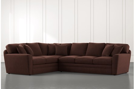 Prestige Foam Brown 2 Piece Sectional With Right Arm Facing Sofa