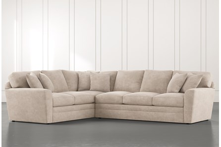 Prestige Foam Beige 2 Piece Sectional With Right Arm Facing Sofa