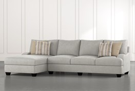 """Sierra Foam III 2 Piece 124"""" Sectional With Left Arm Facing Chaise"""
