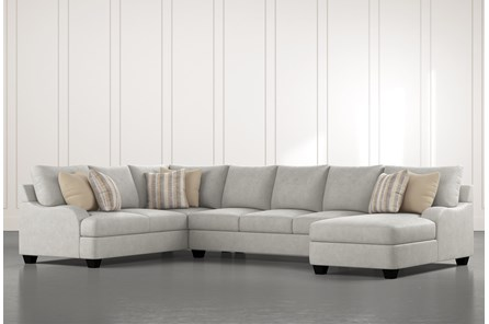 Sierra Foam III 3 Piece Sectional With Right Arm Facing Chaise