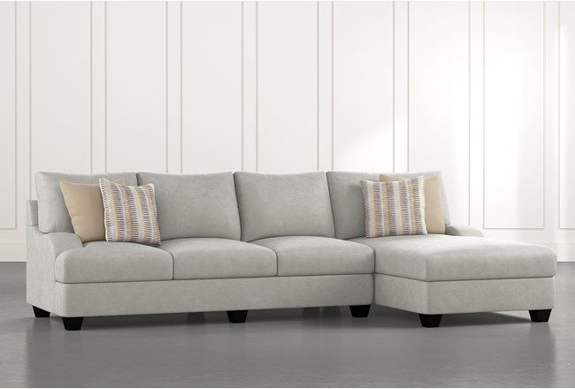 Sierra Foam III 2 Piece Sectional With Right Arm Facing Chaise - 360