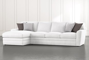 """Prestige Down 2 Piece 126"""" Sectional With Left Arm Facing Chaise"""