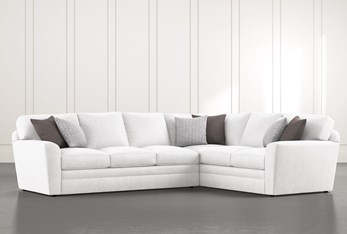 """Prestige Down 2 Piece 129"""" Sectional With Left Arm Facing Sofa"""