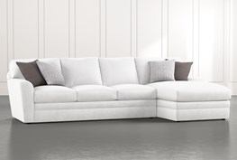 """Prestige Down 2 Piece 126"""" Sectional With Right Arm Facing Chaise"""
