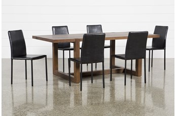 Luna 7 Piece Dining Set With Hayden Ii Black Chair