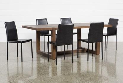 Swell Luna 7 Piece Dining Set With Hayden Ii Black Chair Ibusinesslaw Wood Chair Design Ideas Ibusinesslaworg