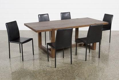 Fabulous Luna 7 Piece Dining Set With Hayden Ii Black Chair Ibusinesslaw Wood Chair Design Ideas Ibusinesslaworg