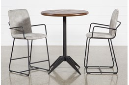 Oslo 3 Piece Pub Set With Herman 26 Inch Stools