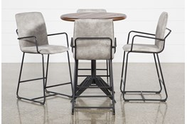 Oslo 5 Piece Pub Set With Herman 26 Inch Stools