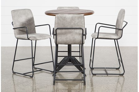 Thor 5 Piece Pub Set With Herman 26 Inch Stools