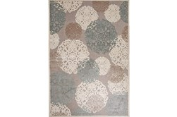 8'x10' Rug-Teal & Taupe Caspian Bubble