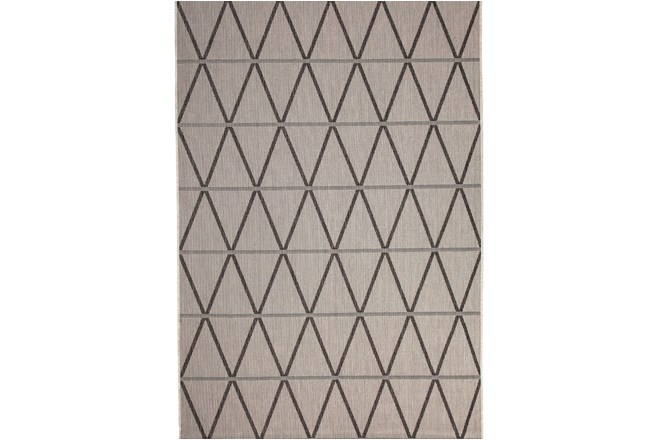 63X90 Rug-Graphite Diamond Stripe - 360