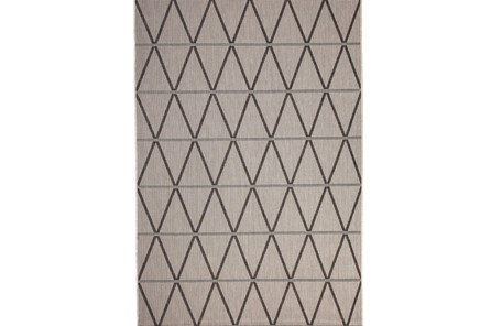 93X126 Rug-Graphite Diamond Stripe