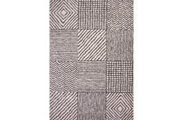 63X90 Rug-Charcoal & Ivory Shaggy Patchwork