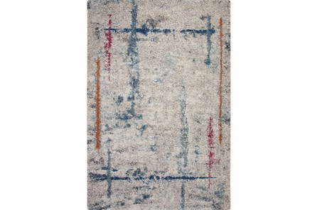 94X134 Rug-Blue & Grey Rivington Square