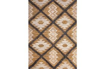 8'x10' Rug-Tan & Brown Totem Triangle