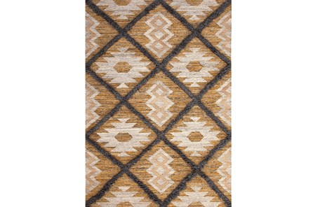 96X120 Rug-Tan & Brown Totem Triangle