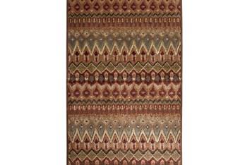 "5'x7'5"" Rug-Brown & Red Anaya Pattern"