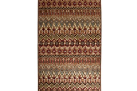 60X90 Rug-Brown & Red Anaya Pattern