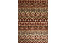 96X120 Rug-Brown & Red Anaya Pattern