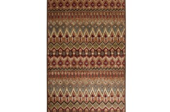96X120 Rug-Brown & Red Anaya Pattern